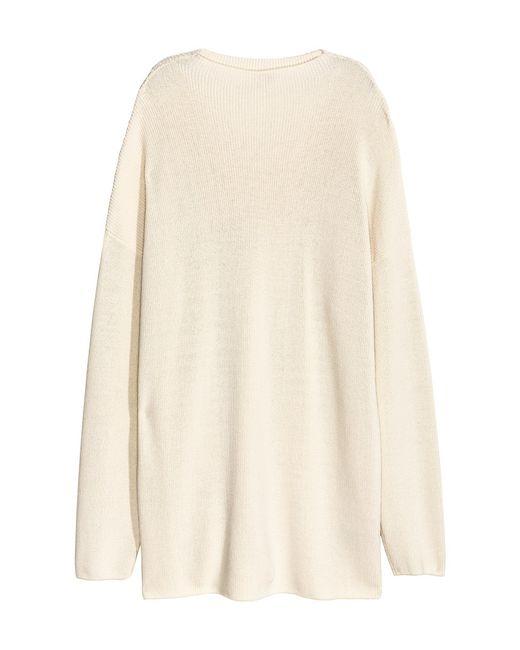 H&M | Natural Knitted Turtleneck Jumper | Lyst