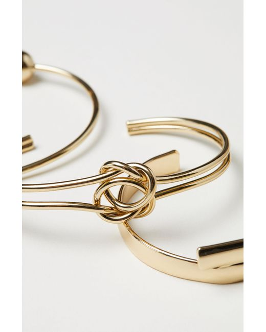 H&M - Metallic 4 Bangle Bracelets - Lyst