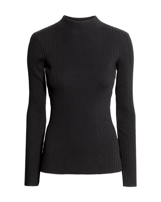 H&M | Black Ribbed Turtleneck Jumper | Lyst