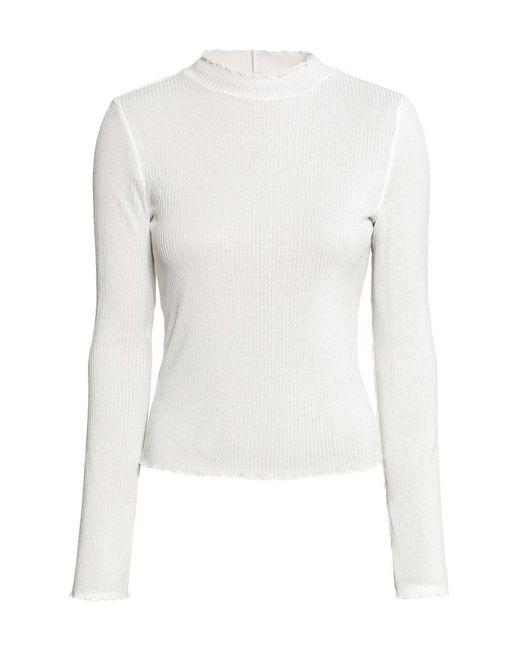 H&M | White Rib-knit Jumper | Lyst