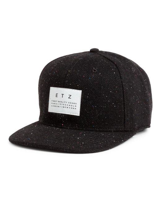 H&m Wool-blend Cap in Black for Men