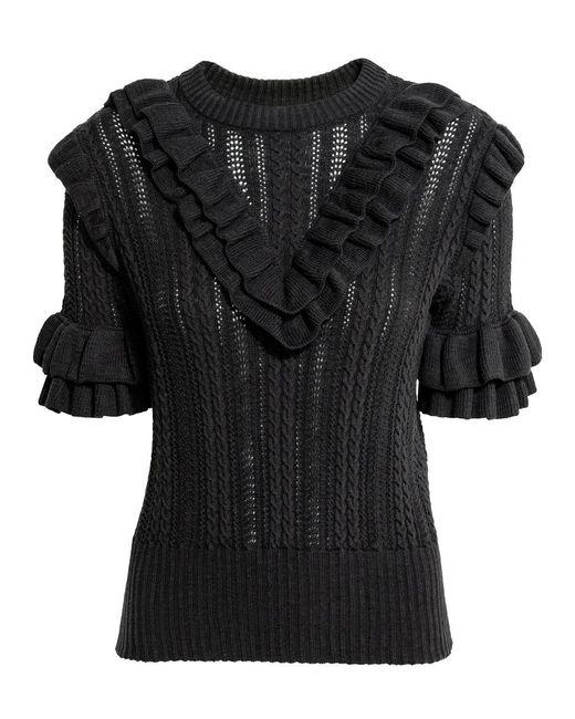 H&M | Gray Textured-knit Jumper | Lyst
