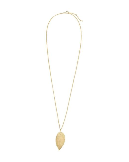 H&M | Metallic Leaf Pendant Necklace | Lyst