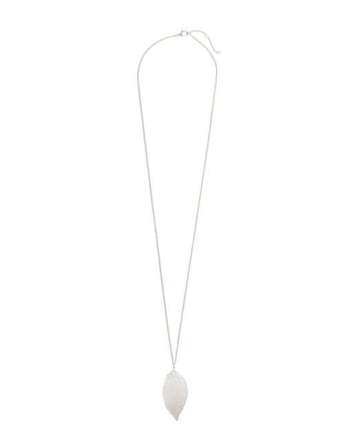 H&M | Metallic Leaf Pendant Necklace | Lyst
