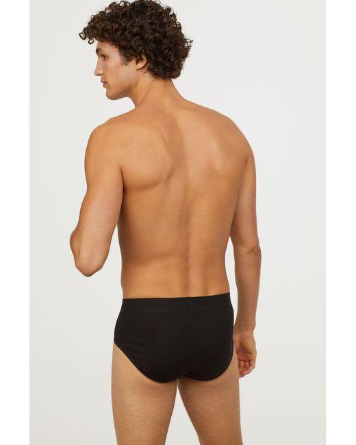 H&M - Black 3-pack Cotton Briefs for Men - Lyst