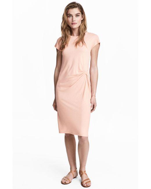 H&M | Pink Short Dress | Lyst
