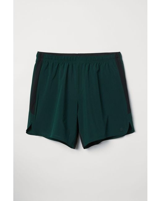 b28aaac0d8 H&M Running Shorts in Green for Men - Lyst