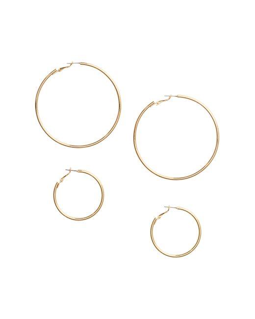 H&M | Metallic 2 Pairs Hoop Earrings | Lyst