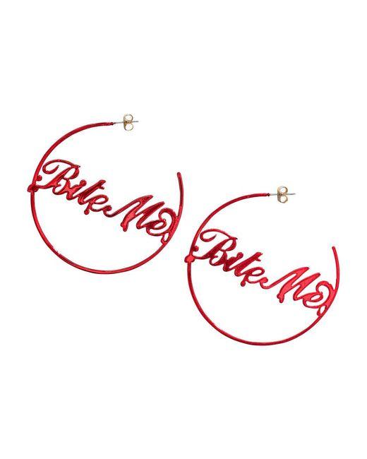 H&M | Red Large Hoop Earrings | Lyst
