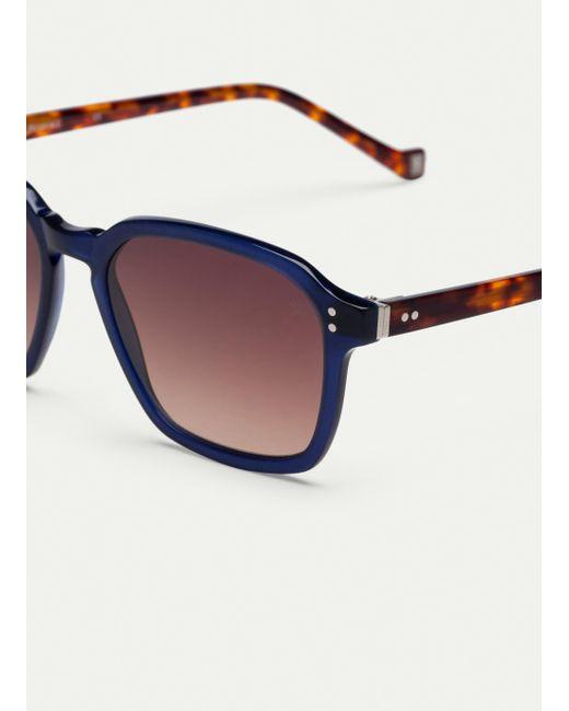 da0e4a39dad ... Hackett - Blue Squared Off Ultra-thin Acetate Sunglasses for Men - Lyst  ...