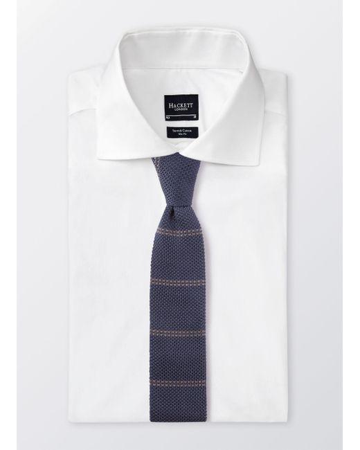 Hackett - Blue Double Stripe Knitted Tie for Men - Lyst