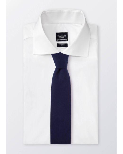 Hackett | Blue Jp Fox Plain Tie for Men | Lyst
