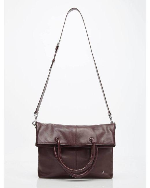 Halston Heritage - Multicolor Ali Soft Box Calf Leather Lg Foldover Tote -  Lyst bc0737a83f950