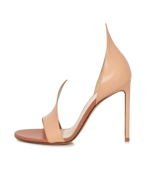 Francesco Russo - Natural Flame Sandal In Nude - Lyst