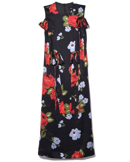 Simone Rocha - Black Bow Ribbon Floral Dress - Lyst