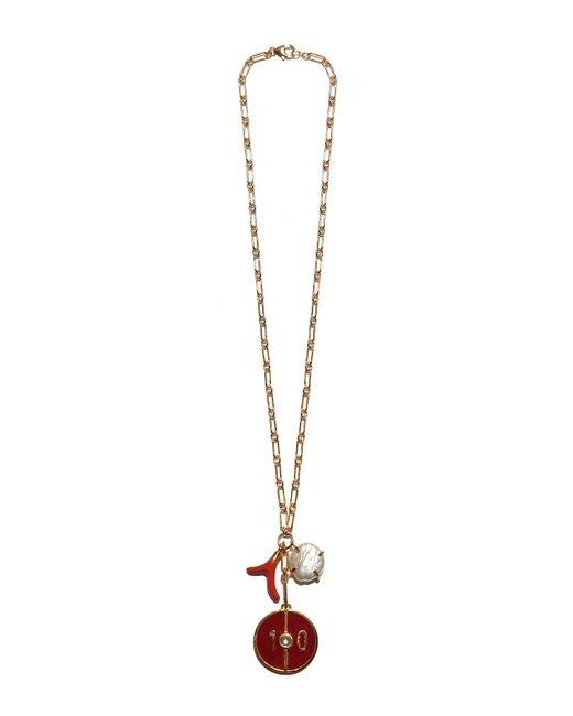 Lizzie Fortunato - Fortune Necklace In Red 10 - Lyst