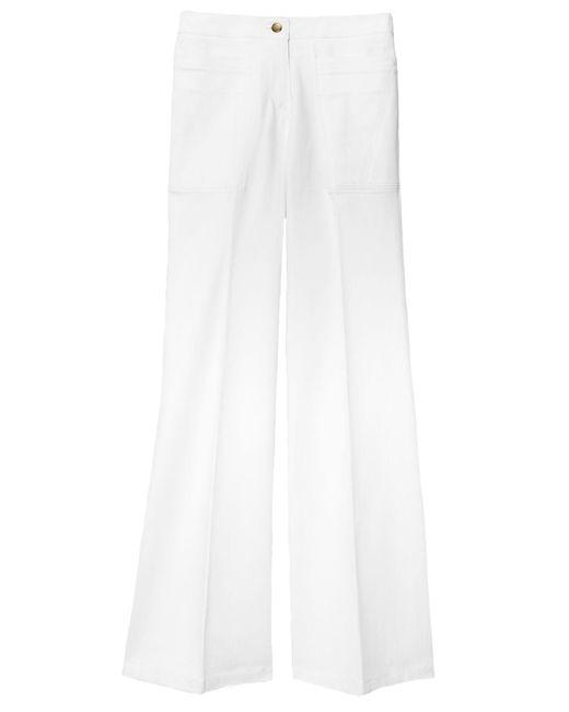 Derek Lam - Charlotte High Waist Flare Jean In White - Lyst