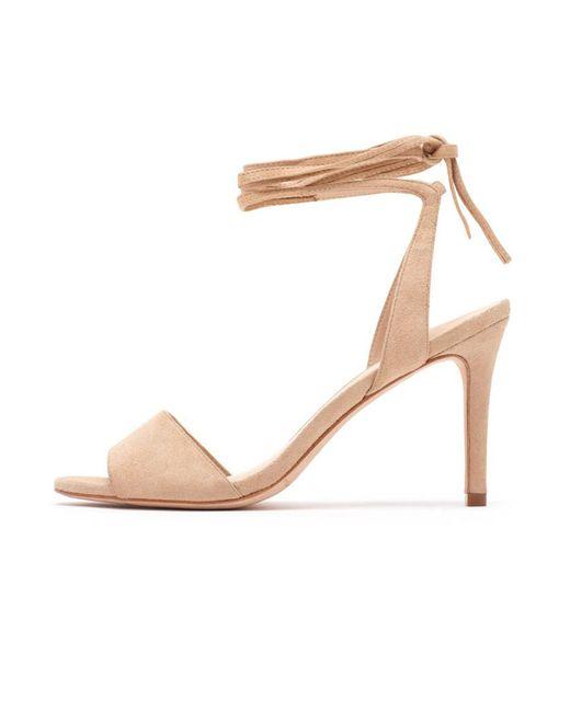 Loeffler Randall   Natural Elyse Ankle Tie Sandal In Nude   Lyst