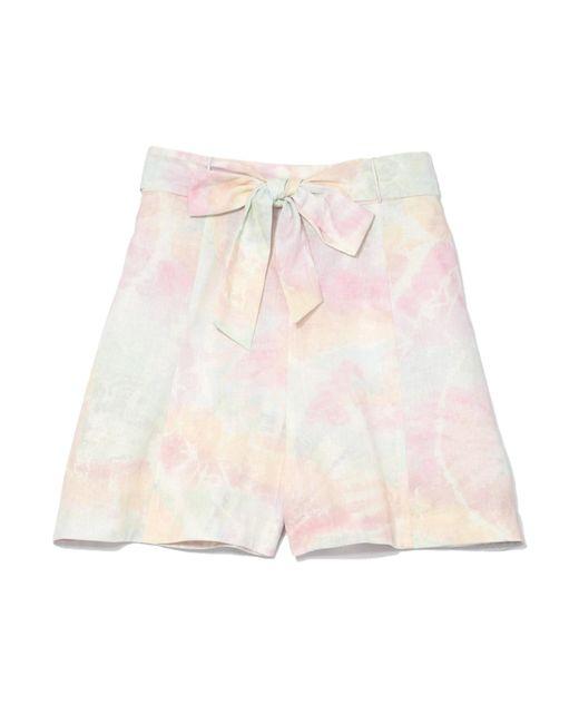 Zimmermann | Pink Jasper Tie Dye Shorts In Tie Dye | Lyst