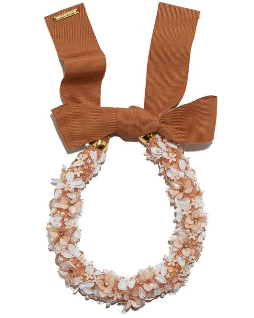 Lizzie Fortunato - Brown Flower District Collar - Lyst