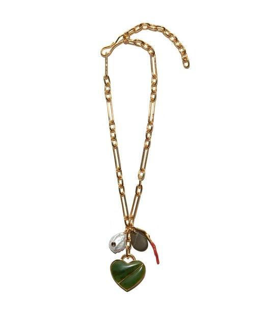 Lizzie Fortunato - Metallic Venice Heart Necklace - Lyst