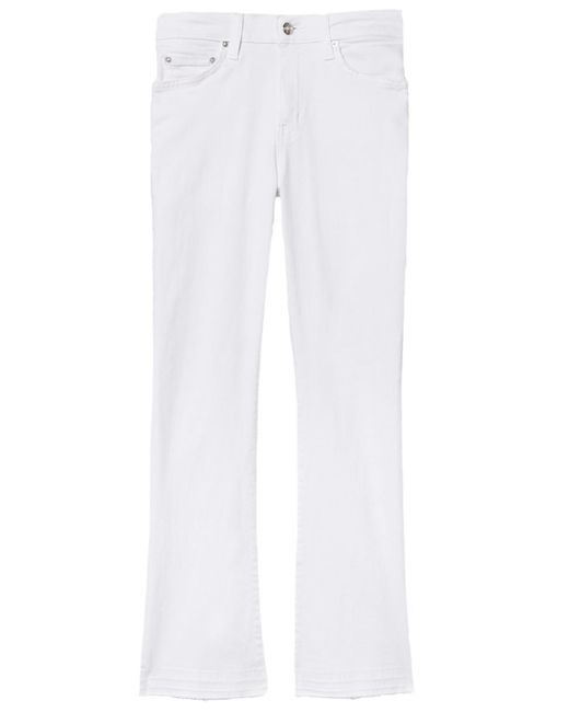 10 Crosby Derek Lam - Gia Mid Rise Cropped Flare In White - Lyst
