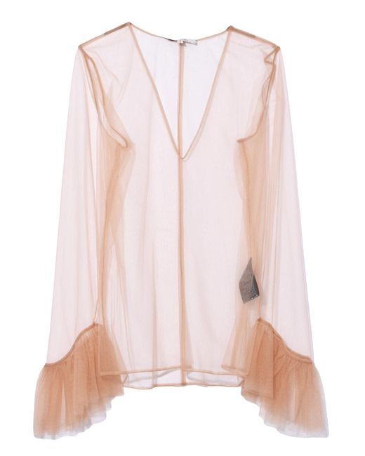Dorothee Schumacher - Pink Sensitive Transparency T-shirt In Muted Hazelnut - Lyst