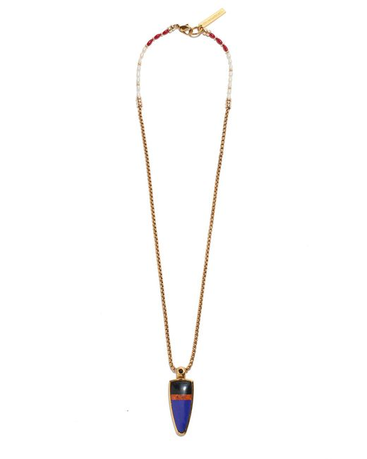 Lizzie Fortunato | Metallic Striped Arrow Necklace | Lyst