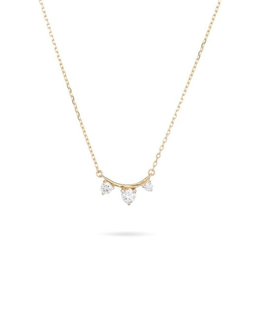 Adina Reyter - 3 Diamond Amigos Curve Necklace In Yellow Gold - Lyst