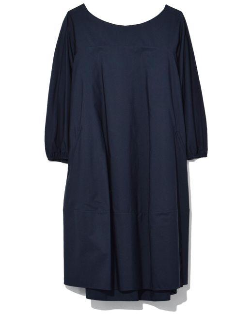 Aspesi - Blue Popeline Balloon Dress In Navy - Lyst