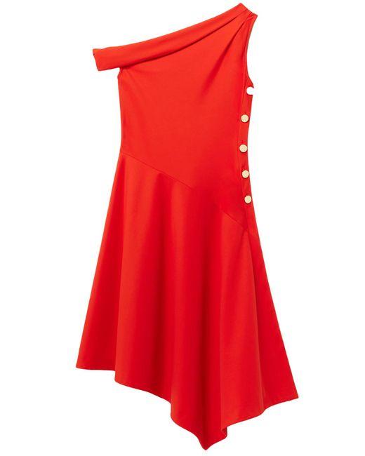 10 Crosby Derek Lam - Red One Shoulder Midi Dress In Poppy - Lyst