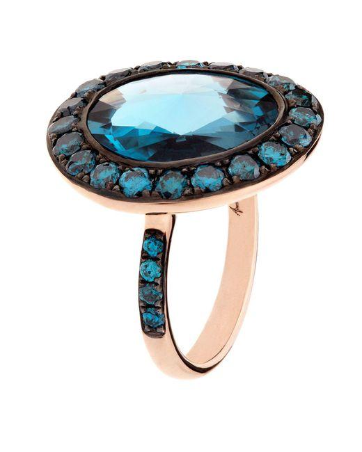Annoushka - Blue Dusty Diamonds Topaz Ring - Lyst
