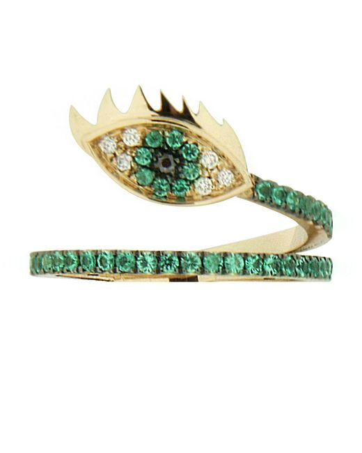 Delfina Delettrez | Green Marry Me Eye Emerald Ring | Lyst