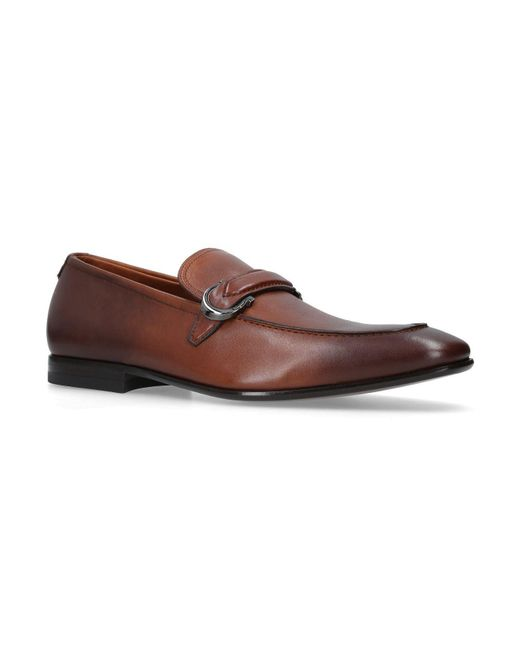 Ferragamo - Natural Leather Carlo Loafers for Men - Lyst