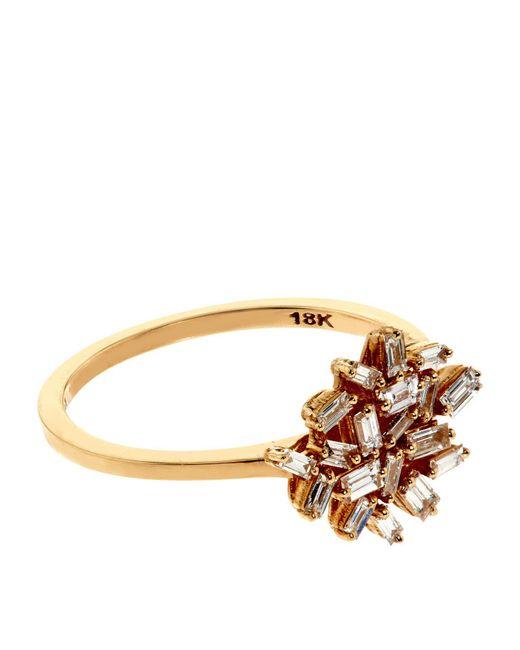 Suzanne Kalan | Baguette White Diamond Firework Ring, 7 | Lyst