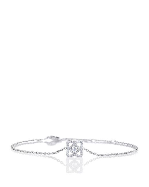 De Beers - Metallic White Gold Enchanted Lotus One-motif Bracelet - Lyst