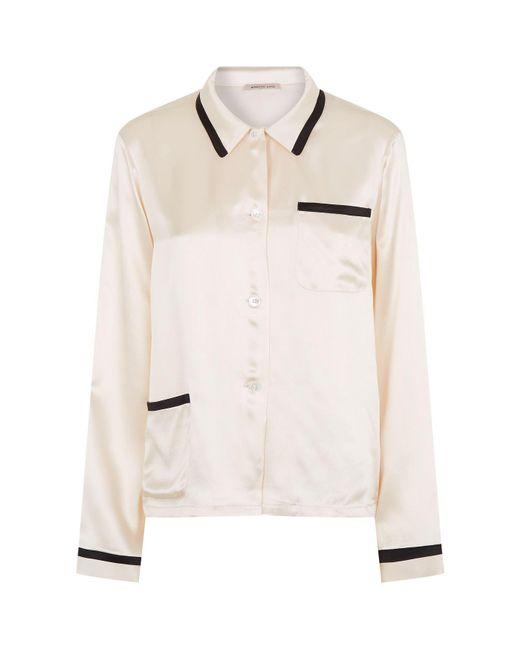 Morgan Lane - White Silk Ruthie Shirt - Lyst