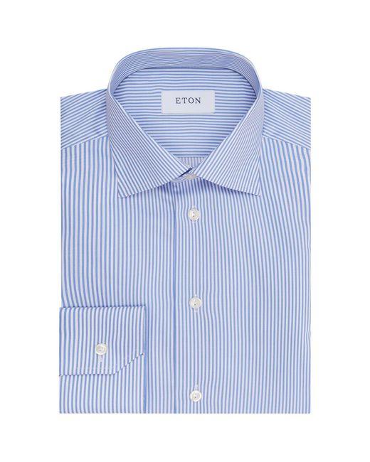 Eton of Sweden - Blue Slim Fit Pinstriped Shirt for Men - Lyst