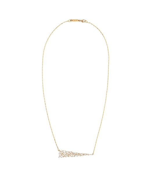 Suzanne Kalan - White Gold Uneven Diamond Baguette Necklace - Lyst
