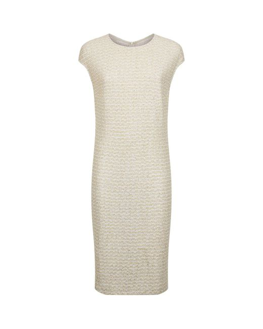 St. John - Metallic Sequin Embellished Knit Dress - Lyst