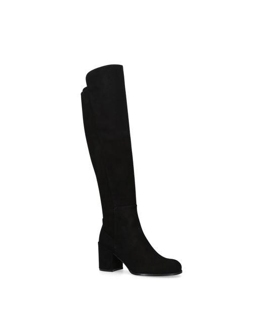 Stuart Weitzman - Black Suede Alljack Knee Length Boots - Lyst