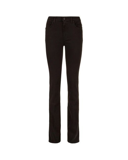 7 For All Mankind - Black Bootcut Bair Jeans - Lyst