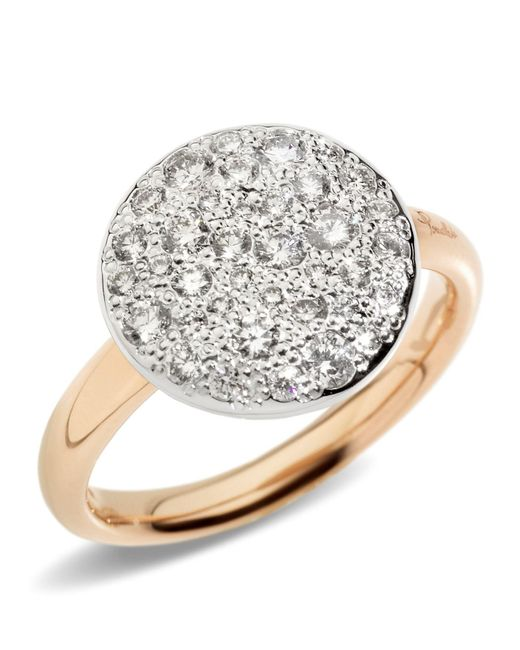 Pomellato - White Sabbia Black Diamond Ring - Lyst
