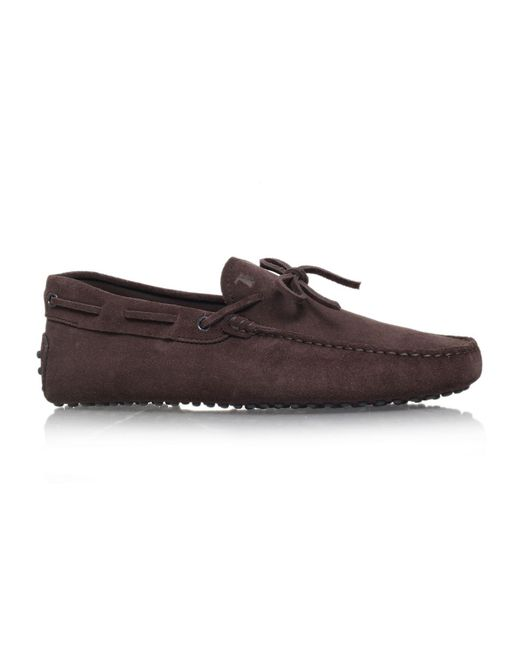 156c261ca33 Lyst - Tod s Gommino Suede Driving Shoes in Brown for Men - Save ...