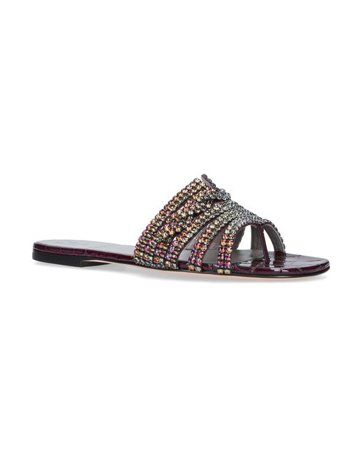 Gina   Purple Loren Embellished Sandals   Lyst