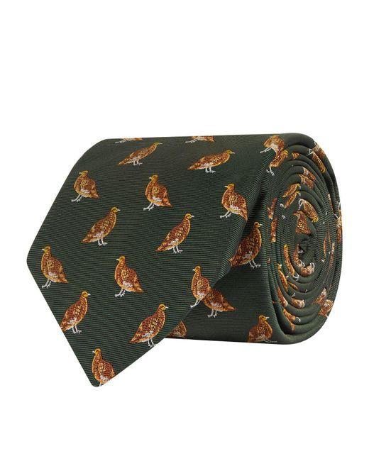 James Purdey & Sons - Green Silk Pheasants Tie for Men - Lyst