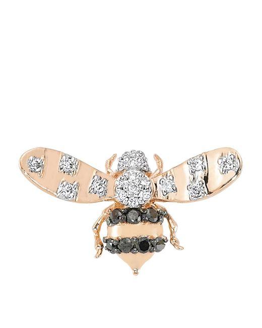 Bee Goddess - Black Diamond Queen Bee Earring - Lyst