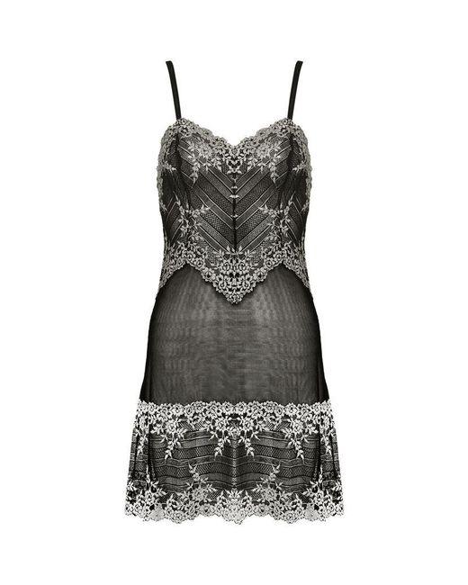 Wacoal | Black Embrace Lace Chemise | Lyst