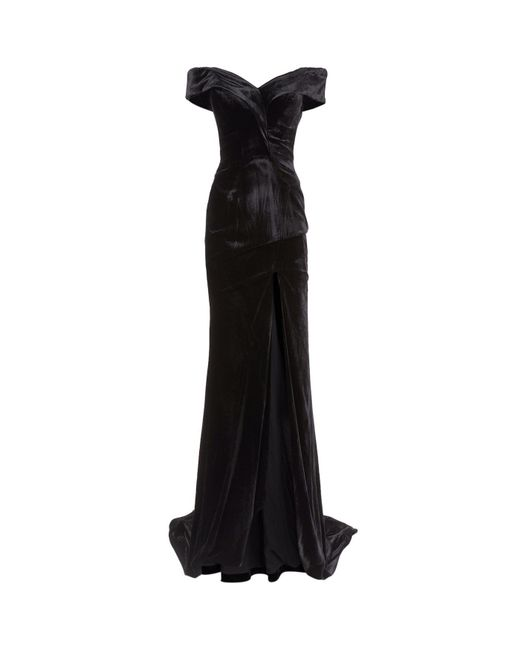 Rachel Gilbert | Black Violetta Off Shoulder Gown | Lyst