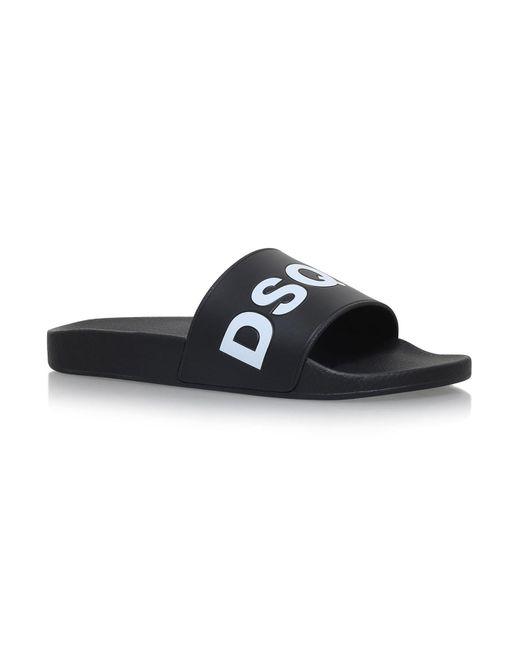 DSquared² - Black Dune Pool Slides for Men - Lyst